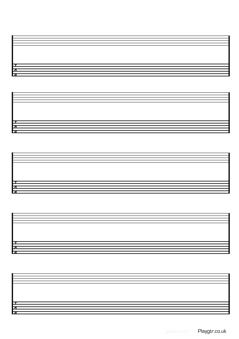 Alfa img - Showing > Guitar Tab Paper Template