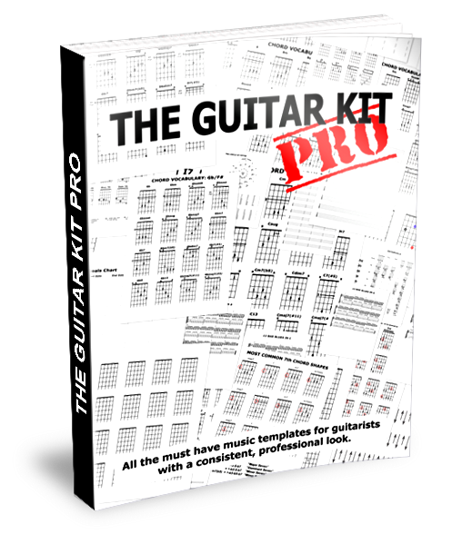 The Guitar Kit Pro – Blank Music Templates and Guitar Templates