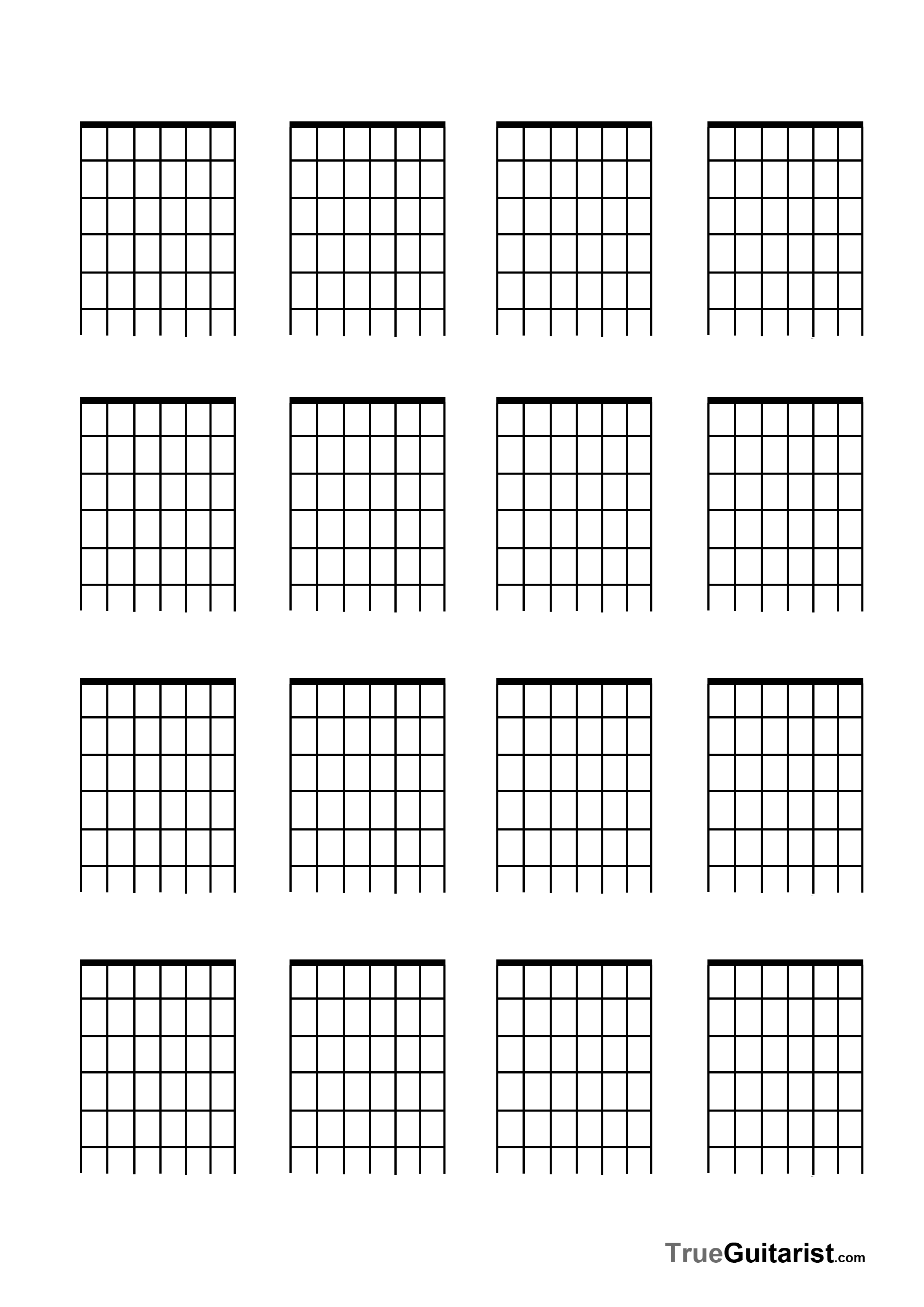 Blank Guitar Tab Template