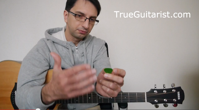 How to Hold Guitar Pick + Right Hand Technique Tips