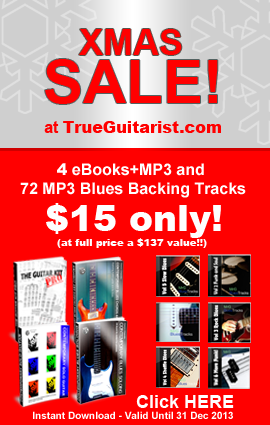 Christmas Sale! Massive Guitar Bundle for $15 (a $137 value at full price)