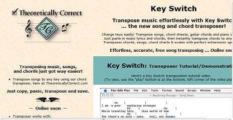 Transpose songs in different keys the easy way
